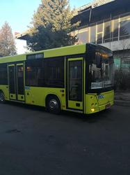 Во Львове на маршрутах тестируют белорусский автобус МАЗ206