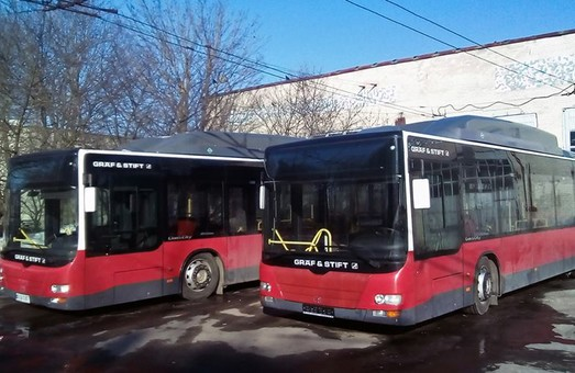 В Тернополь прибыли европейские автобусы большого класса