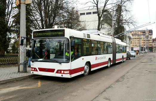 В Ивано-Франковске представили троллейбус «Volvo» в городской ливрее