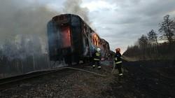 ЧП на Львовской железной дороге – горел пригородный дизель-поезд