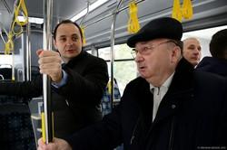 В Ивано-Франковске большие турецкие автобусы вышли на новый автобусный маршрут