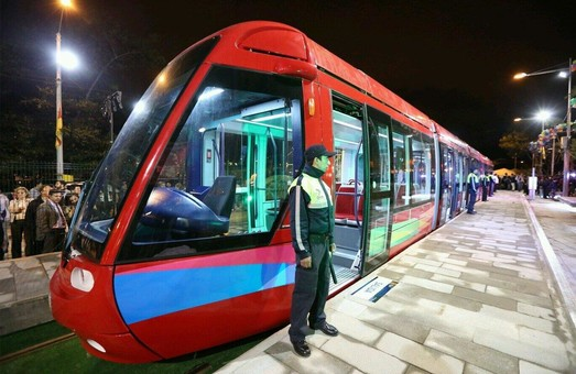 В одном из городов Эквадора запустили трамвай