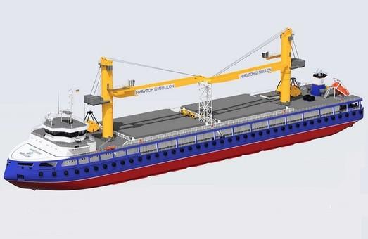 В Украине строят 140-метровый плавучий кран