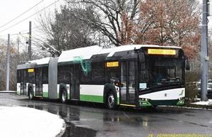 В Праге проводят испытания сочлененного троллейбуса
