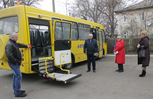 В Арцизском районе появился школьный автобус, приспособленный для перевозки детей-инвалидов