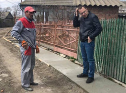 В Килии на юге Одесской области создают пешеходную инфраструктуру