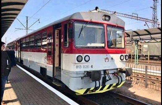 Вчера в Мукачево приезжал пассажирский поезд из Словакии