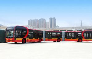 Китайская компания «BYD» создала трехсекционный электробус