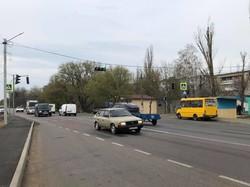 На трассе на Рени под Одессой оборудовали пешеходные переходы