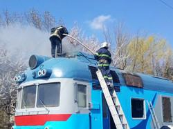 Инцидент на Одесской железной дороге: загорелся пригородный дизель-поезд