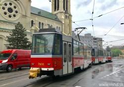 В Братиславе тестируют трамвайные «тройники»