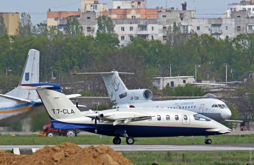 Вчера в Одессе побывал необычный итальянский самолет
