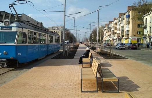 В Виннице провели реконструкцию улицы с трамвайным движением