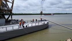 В порту Рени в Одесской области отремонтировали причал-баржу