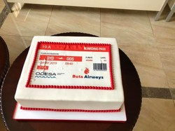 Сегодня в аэропорту Одессы встречали первый авиарейс «Buta Airways» из Баку