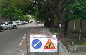 В Одессе рассказали и показали, как ремонтируют тротуары