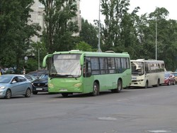 В Киеве заметили редкий китайский автобус «Mudan», выпущенный компанией «Yutong»