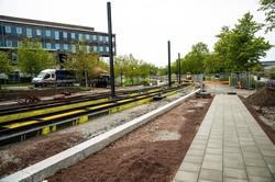 В шведском городе Лунд строят трамвайную линию