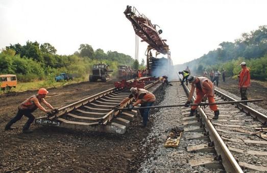 В Украине с начала года провели ремонт почти 290 километров железнодорожных путей
