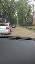 Сильный дождь частично парализовал работу трамваев во Львове