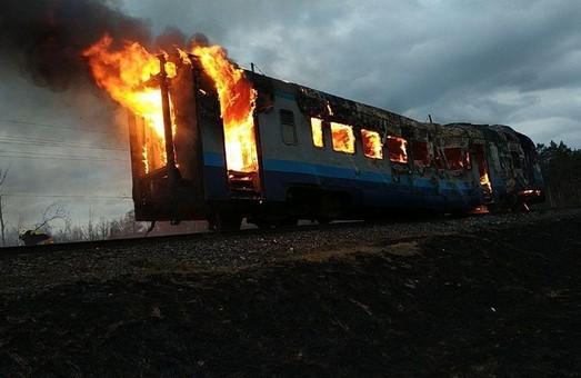 Сегодня рано утром на Львовской железной дороге горел дизель-поезд