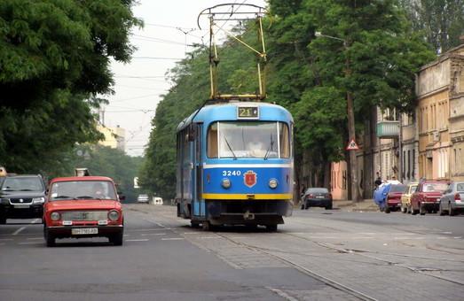 В Одессе временно не будет ходить трамвай по улице Прохоровской