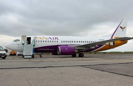 Украинская авиакомпания «Yanair» снова получила право выполнять полеты
