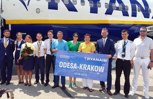 «Ryanair» сегодня выполнил свой первый рейс из Одессы в Краков
