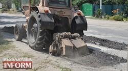 В Белгород-Днестровском ремонтируют дороги в микрорайоне «Вершина»