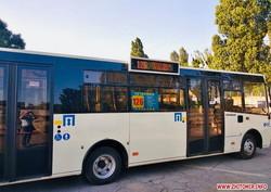 В Житомире новые автобусы вышли на маршрут в село Тетеревка