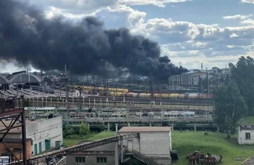 Во Львове случился пожар на территории локомотивного депо «Львов-Запад»