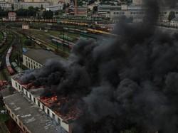 Пожар в локомотивном депо «Львов-Запад» потушили