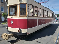 В Виннице ретро-трамвай принял участие в съемках исторического художественного фильма