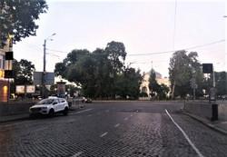 На Пушкинской в Одессе наносят новую разметку