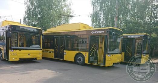 Сумы вовремя получили четыре новых троллейбуса «Богдан Т701.17»