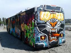 В Хмельницком старый троллейбус превратили в арт-объект