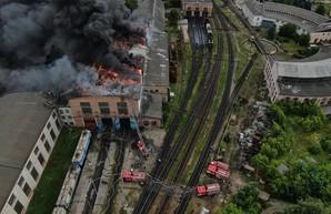 Причиной пожара в локомотивном депо «Львов-Запад» мог стать «сторонний источник огня»