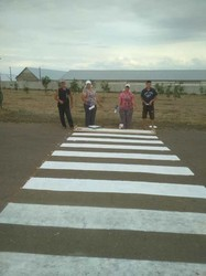 В селе Криничное Болградского района в Одесской области установили новые дорожные знаки и обновили разметку