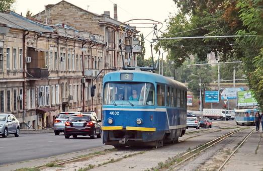 В Одессе реконструируют линию трамвая и дорогу по спуску Маринеско