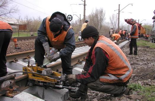 На Приднепровской железной дороге в январе – июне 2019 года отремонтировали 122 километра путей