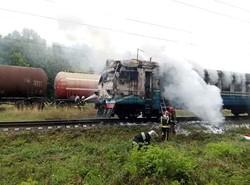 На Юго-Западной железной дороге под Жмеринкой горела электричка