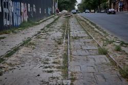 Как выглядит линия трамвая на спуске Маринеско в Одессе перед реконструкцией (ФОТО)