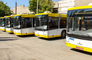Муниципальный автопарк Мариуполя пополнился пятью новыми автобусами