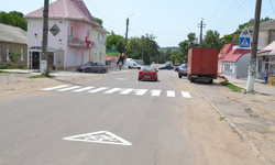 На улицах Березовки Одесской области появилась новая дорожная разметка