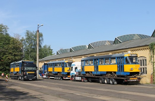 В Днепр приехали уже все трамваи из Лейпцига. Первые из них уже работают на маршрутах