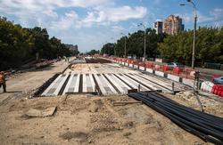 В конце сентября в Киеве трамваи снова пойдут по всей линии Борщаговского скоростного трамвая
