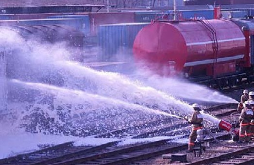 За 7 месяцев текущего года пожарная техника Одесской железной дороги совершила 34 выезда
