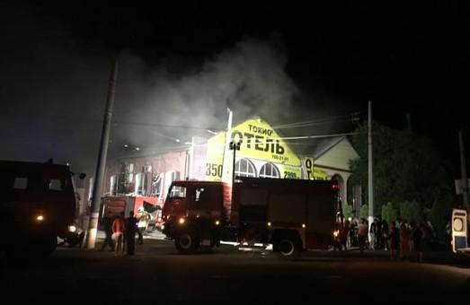 """В Одессе от пожара """"Токио-Стар"""" пострадало трамвайное депо"""