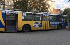 Вчера в Сумах задымился троллейбус