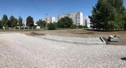 В Кременчуге показали, как строят разворот для троллейбуса на Петровке